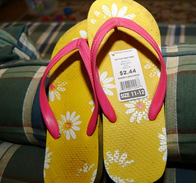 Walmart flip flops