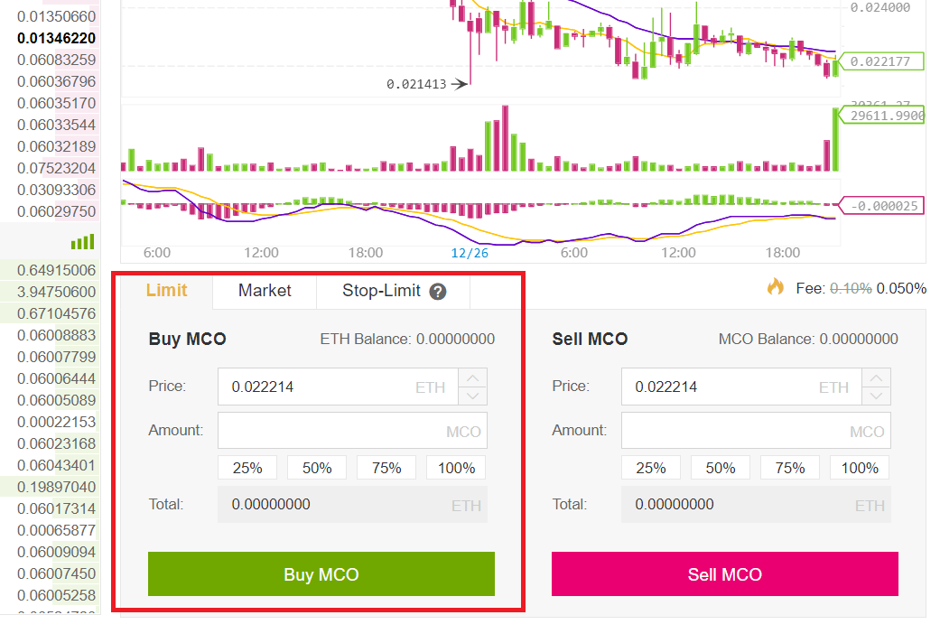 how to buy mco token at binance