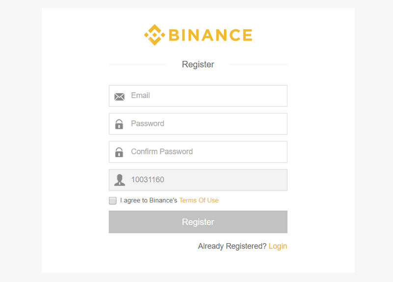 how to sign up for binance platform